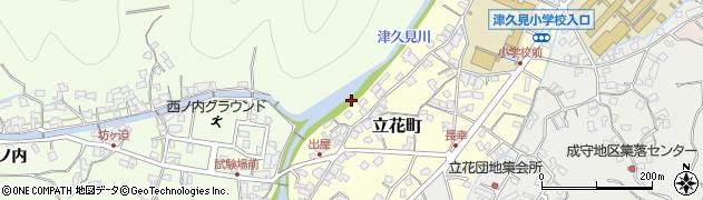 大分県津久見市立花町11周辺の地図