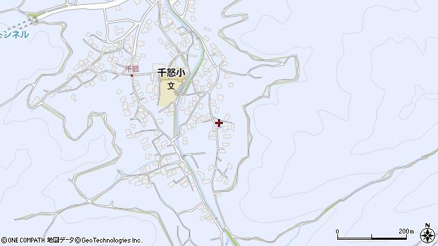 大分県津久見市千怒2777周辺の地図