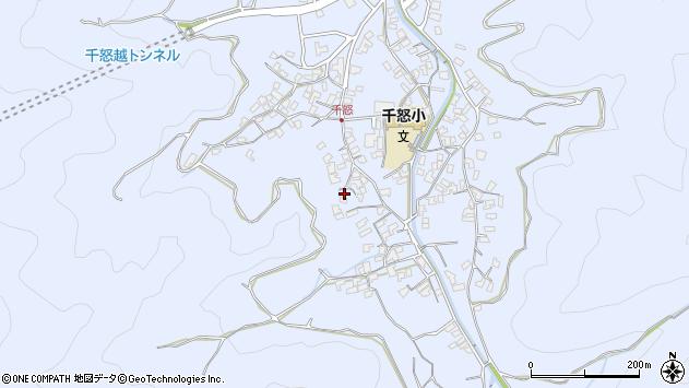 大分県津久見市千怒1690周辺の地図