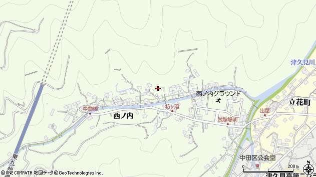 大分県津久見市津久見8277周辺の地図