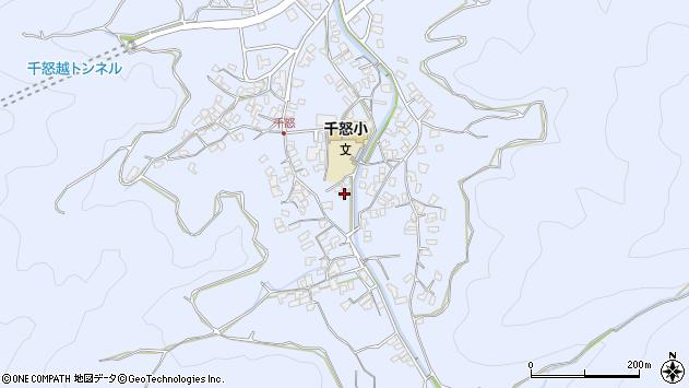 大分県津久見市千怒1708周辺の地図