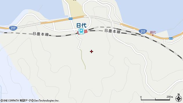 大分県津久見市網代532周辺の地図