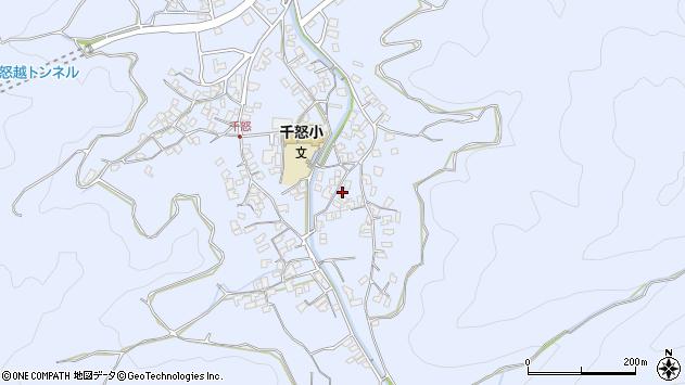 大分県津久見市千怒2744周辺の地図