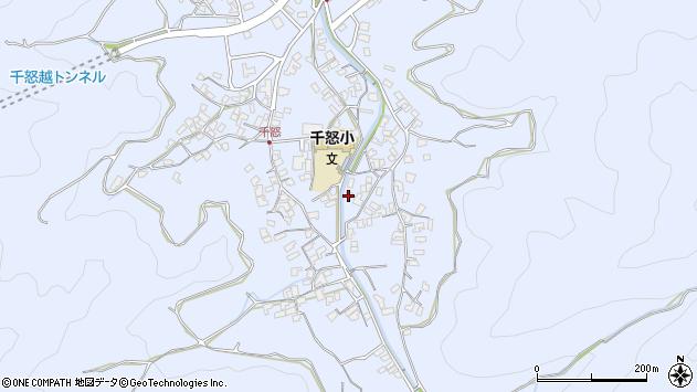 大分県津久見市千怒2754周辺の地図
