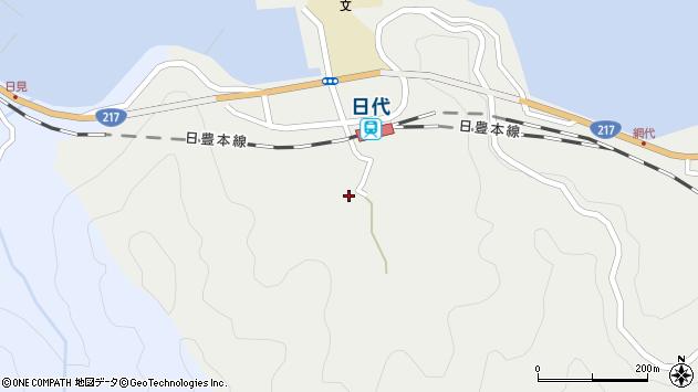 大分県津久見市網代448周辺の地図