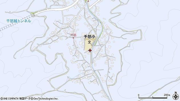 大分県津久見市千怒1706周辺の地図