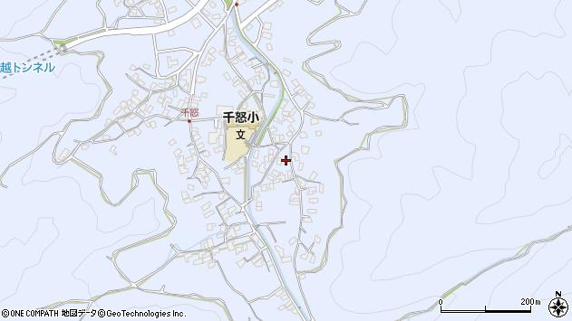 大分県津久見市千怒2772周辺の地図