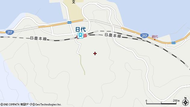 大分県津久見市網代545周辺の地図
