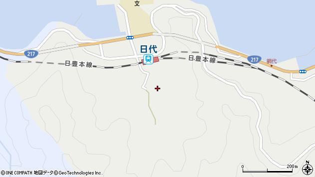 大分県津久見市網代525周辺の地図
