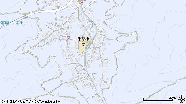 大分県津久見市千怒2768周辺の地図