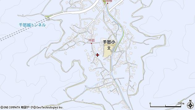 大分県津久見市千怒1419周辺の地図