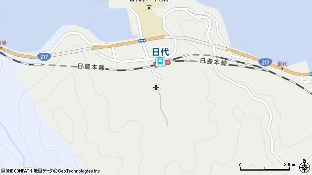 大分県津久見市網代461周辺の地図
