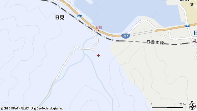 大分県津久見市日見2220周辺の地図
