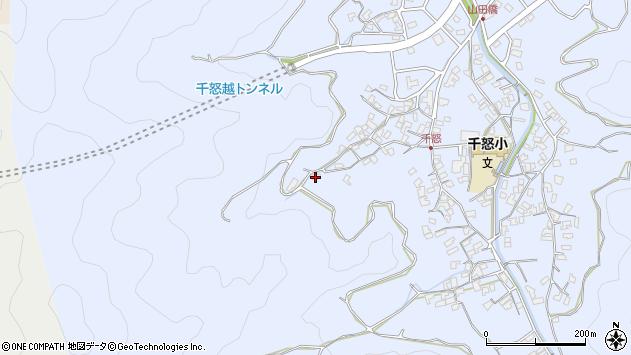 大分県津久見市千怒1032周辺の地図