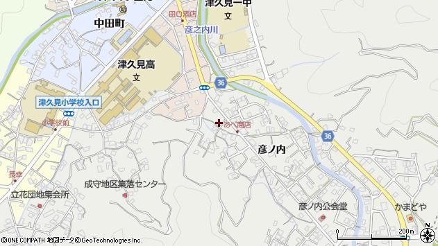 大分県津久見市津久見2537周辺の地図