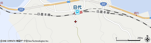 大分県津久見市網代462周辺の地図