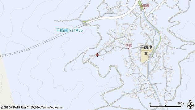 大分県津久見市千怒1091周辺の地図
