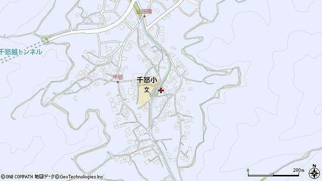 大分県津久見市千怒2760周辺の地図