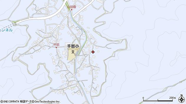 大分県津久見市千怒2839周辺の地図