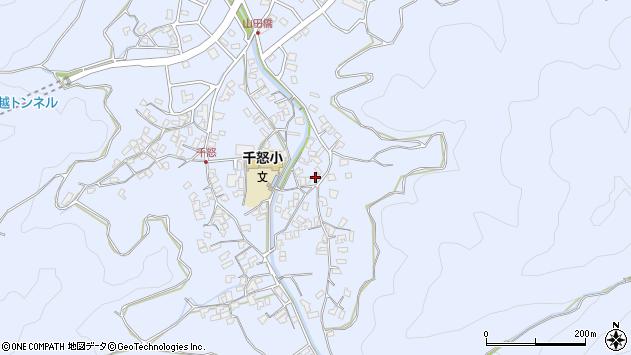 大分県津久見市千怒2817周辺の地図