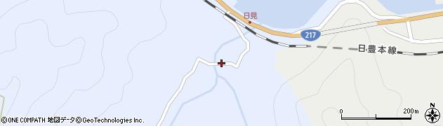 大分県津久見市日見2179周辺の地図