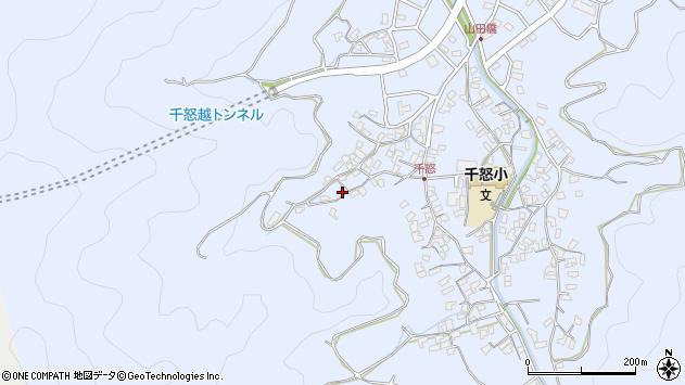 大分県津久見市千怒1083周辺の地図