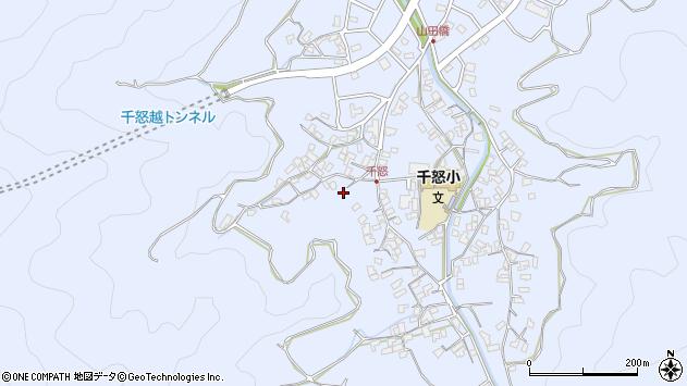 大分県津久見市千怒1570周辺の地図