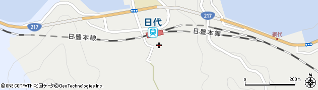 大分県津久見市網代478周辺の地図