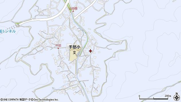 大分県津久見市千怒2836周辺の地図