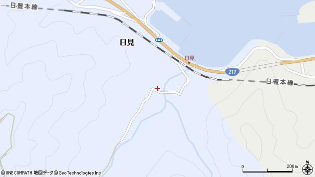 大分県津久見市日見1549周辺の地図