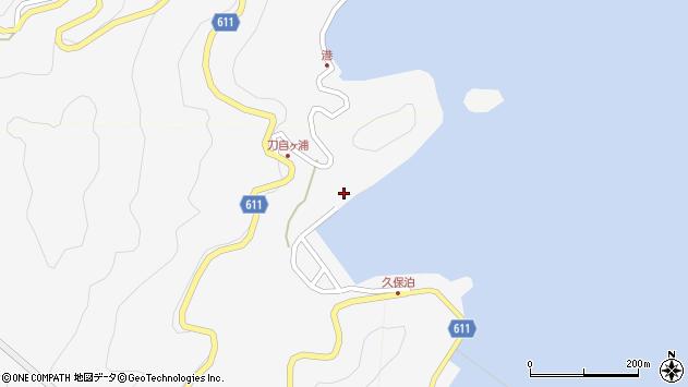 大分県津久見市四浦2958周辺の地図
