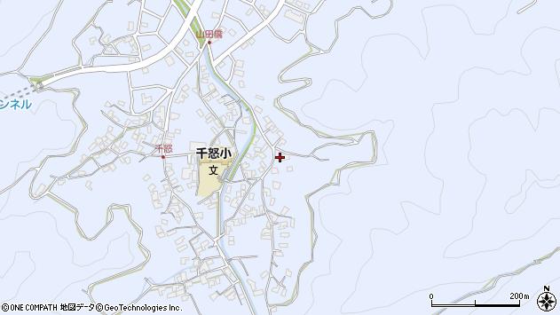大分県津久見市千怒2791周辺の地図
