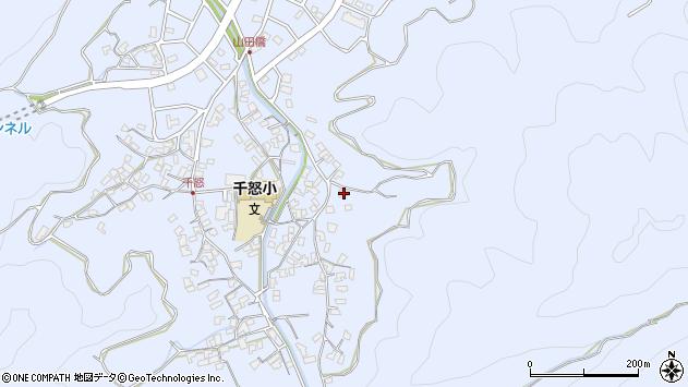 大分県津久見市千怒2849周辺の地図