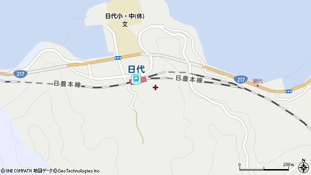 大分県津久見市網代491周辺の地図