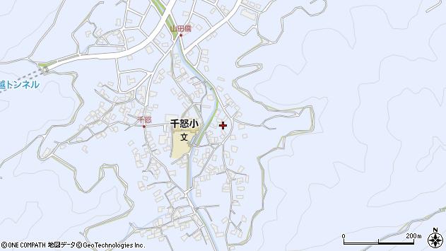 大分県津久見市千怒2825周辺の地図