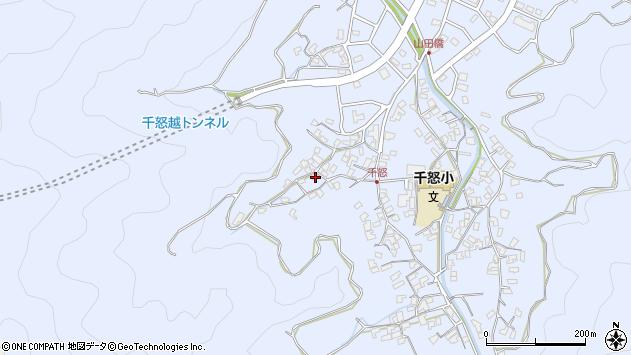大分県津久見市千怒1073周辺の地図