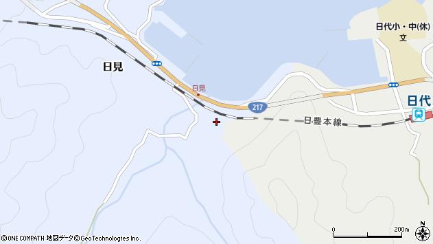 大分県津久見市日見2193周辺の地図