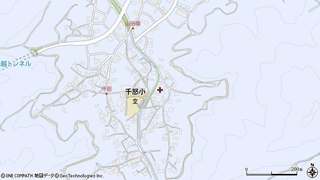 大分県津久見市千怒2826周辺の地図
