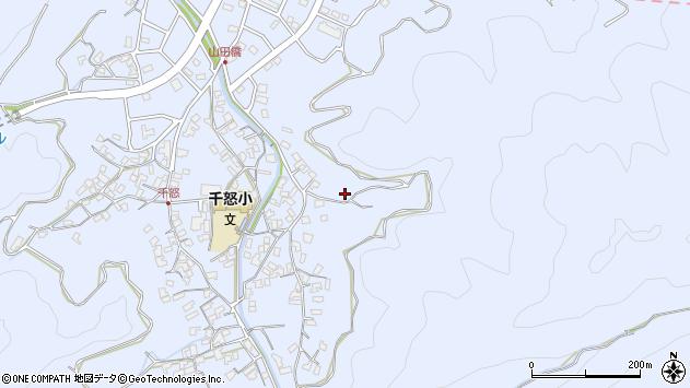 大分県津久見市千怒2899周辺の地図
