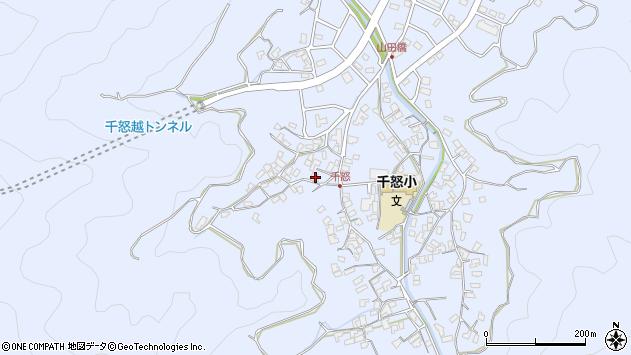 大分県津久見市千怒1547周辺の地図