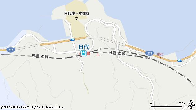大分県津久見市網代496周辺の地図