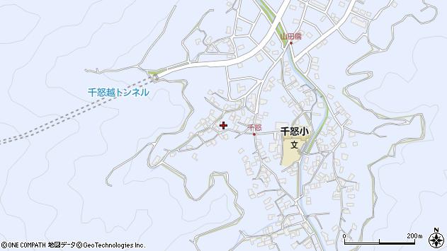 大分県津久見市千怒1069周辺の地図