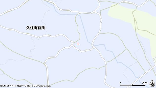 大分県竹田市久住町大字有氏272周辺の地図
