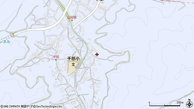 大分県津久見市千怒2856周辺の地図