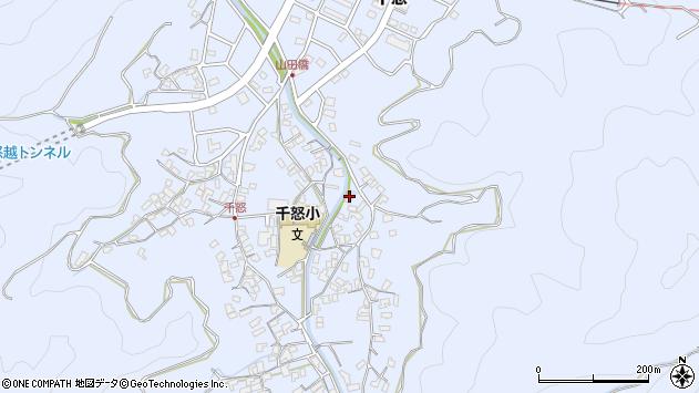 大分県津久見市千怒2829周辺の地図