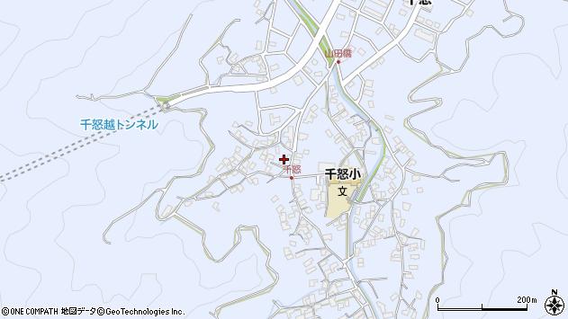 大分県津久見市千怒1544周辺の地図