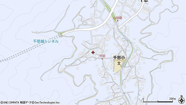 大分県津久見市千怒1067周辺の地図