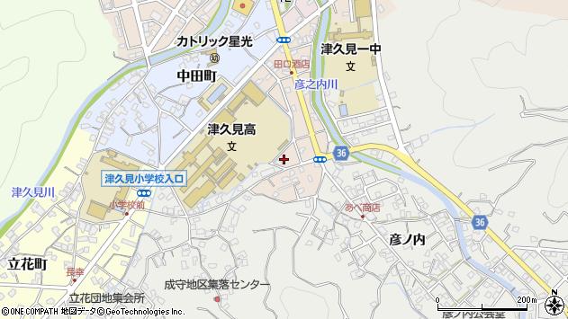 大分県津久見市文京町7周辺の地図