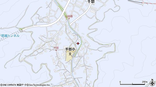 大分県津久見市千怒1363周辺の地図