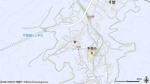 大分県津久見市千怒1066周辺の地図